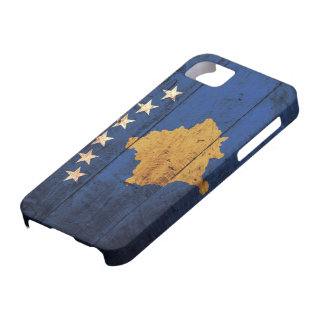 Old Wooden Kosovo Flag Case For The iPhone 5