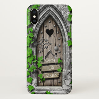 Old Wooden Magical Fantasy Fairy Wishing Door iPhone X Case
