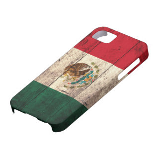 Old Wooden Mexico Flag Case For The iPhone 5
