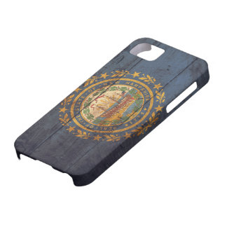 Old Wooden New Hampshire Flag; iPhone 5 Case