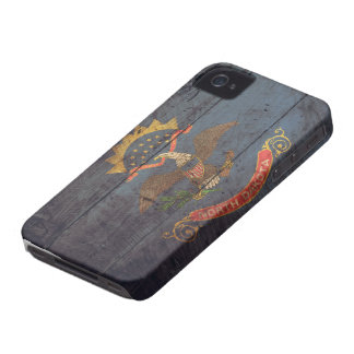 Old Wooden North Dakota Flag; iPhone 4 Covers