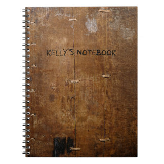 """Old """"Wooden"""" Notebook with (or without) your Name"""