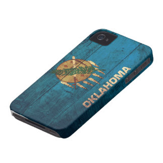 Old Wooden Oklahoma Flag; iPhone 4 Case
