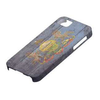 Old Wooden Pennsylvania Flag; iPhone 5 Case