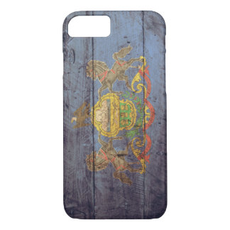 Old Wooden Pennsylvania Flag; iPhone 7 Case