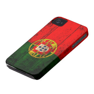 Old Wooden Portugal Flag iPhone 4 Case-Mate Case