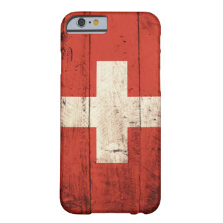 Old Wooden Swiss Flag Barely There iPhone 6 Case