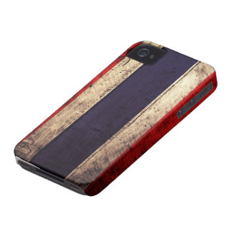 Old Wooden Thailand Flag Case-Mate iPhone 4 Cases