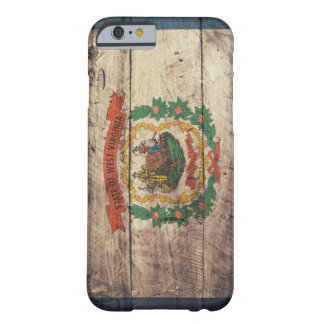 Old Wooden West Virginia Flag Barely There iPhone 6 Case