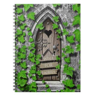 Old Wooden Wish Magical Fantasy Fairy Wishing Door Notebook