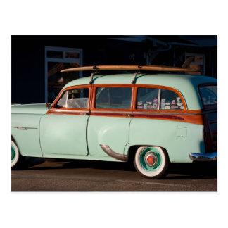 Old Woody Pontiac Postcard