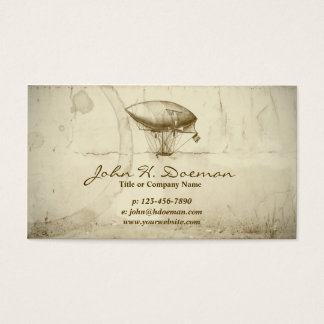 Old World Balloon Business Card