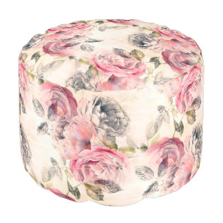 Old World Charm English Roses Ottoman
