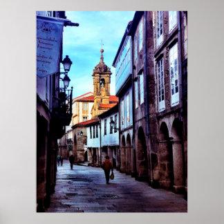 Old World Charm of Santiago De Compostela Poster
