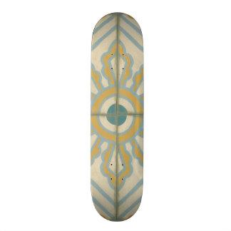 Old World Decorative Tile Pattern Skate Board Deck