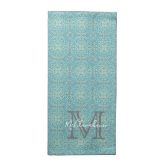 Old World Fleur-de-lis Floral Tile Cloth Napkins