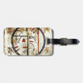 Old world map, 12th century luggage tag