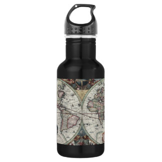 Old World Map 1630 532 Ml Water Bottle
