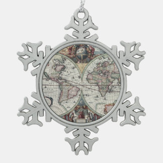 Old World Map 1630 Ornaments
