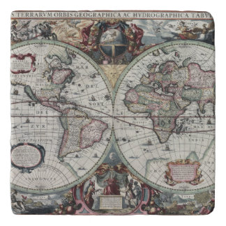 Old World Map 1630 Trivet