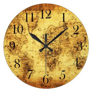 Old world map clocks zazzle old world map antique history designer clock gumiabroncs Images