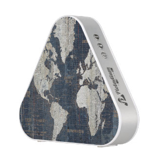 Old World Map Blue Blueooth Speaker
