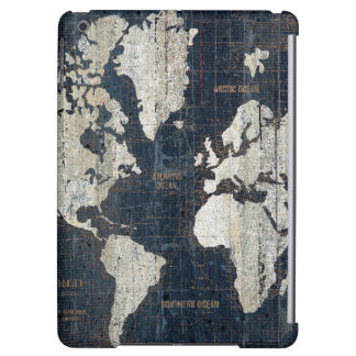 Old World Map Blue iPad Air Cases