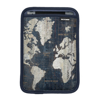 Old World Map Blue iPad Mini Sleeve