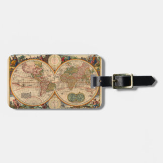 Old World Map by Nicolaas Visscher Luggage Tag