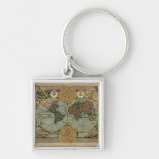Old World Map Designer Gift Keychain