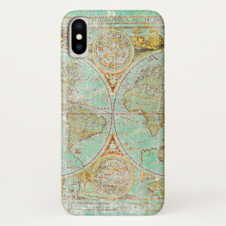 Old World Map iPhone X Case