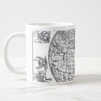 Old World Map Large Coffee Mug