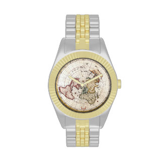 Old World Map Man s Watch