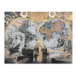 Old World Map - Out to Sea Postcard