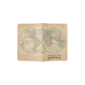 Old World Map Passport Cover