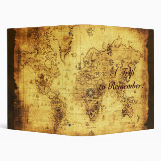 Old World Map Photo Album 3 Ring Binders