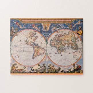 Old World Map Puzzle #1