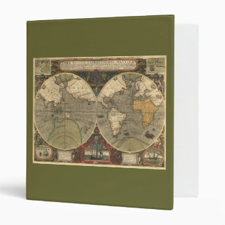 Old World Map Reversible Binder