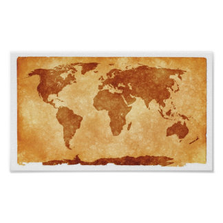 Old World Map Value Poster Paper