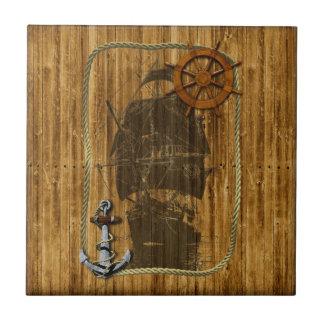 Old World Sailing Tile