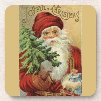 Old World Santa Joyful Christmas Coaster