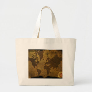Old World Style Map Jumbo Tote Bag