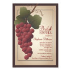 Old World Tuscan Grapevine Wine Bridal Shower Card