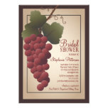 Old World Tuscan Grapevine Wine Bridal Shower Announcement