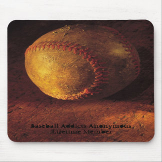 Old Worn Baseball Sports Mouse Pad