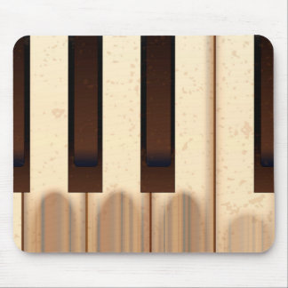 Old Worn Piano Keys Mouse Pad