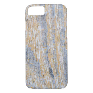 Old worn plank wall with white paint iPhone 7 case