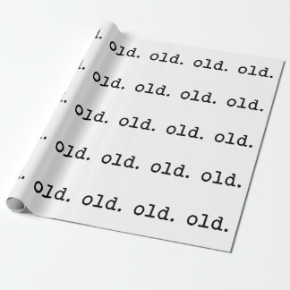 Old. Wrapping Paper