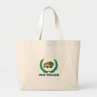 old yeller bus fun large tote bag