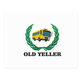 old yeller bus fun postcard